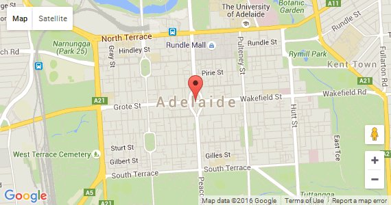 googlemap link for City of Adelaide